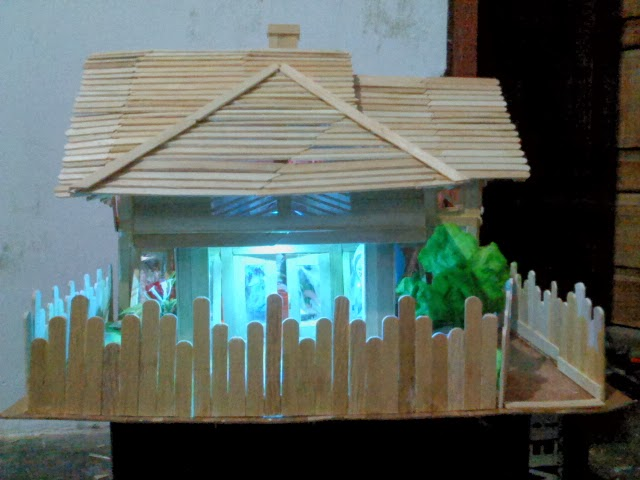 Mustofa Arblog Membuat Miniatur Rumah Sederhana Dengan Stik Eskrim
