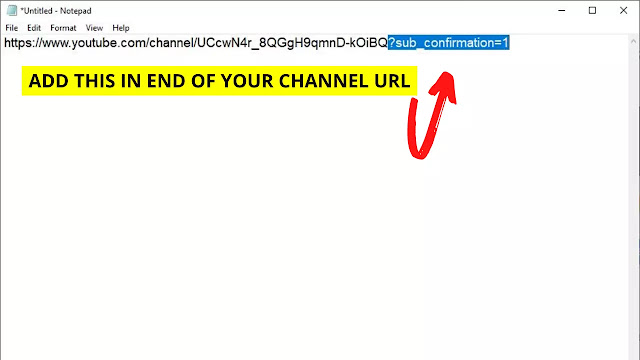 add sub confirmation=1 in end of channel url