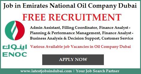 Jobs in Emirates National Oil Company ENOC Dubai