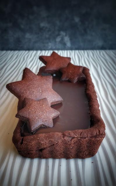 frolla al cacao con ganache al cioccolato fondente