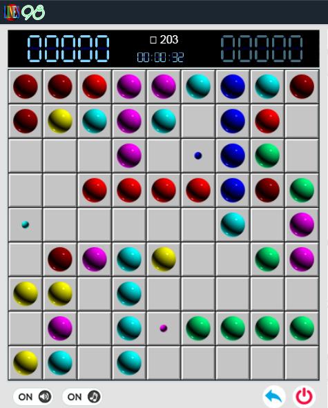 Line 98 online - Chơi game Line 98 màn hình rộng cũ cực hay e