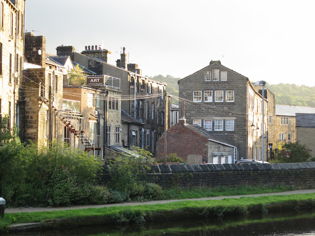 Buildings next to the Rochdale Canal in Todmorden, Yorkshire
