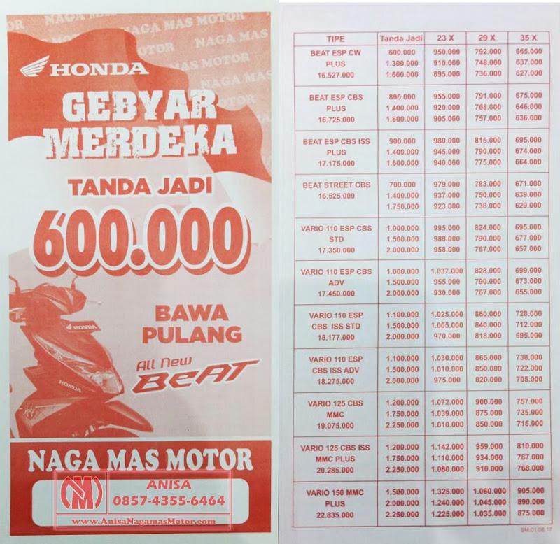 Promo Agustus Gebyar Merdeka Honda Naga Mas Motor Klaten