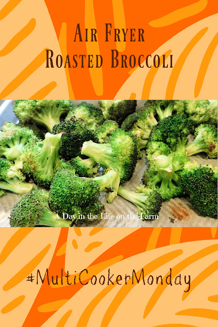 Air Fryer Roasted Broccoli pin