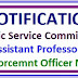 UPPSC Notification 2017-18,Assistant Professor,Labour Enforcemnt Officer Notification 2017-18