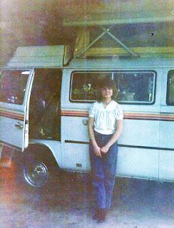 Brenda Wilbee and her van, 1985