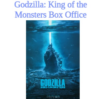 Godzilla: King of the Monsters Box Office Collection | Day wise | Worldwide
