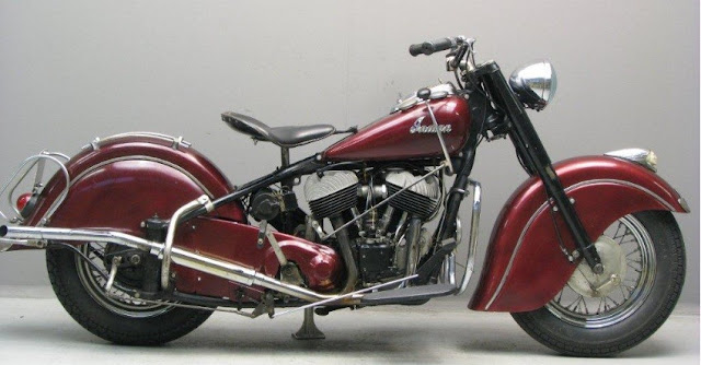 Indian Chief 1950s American classic motorcycle