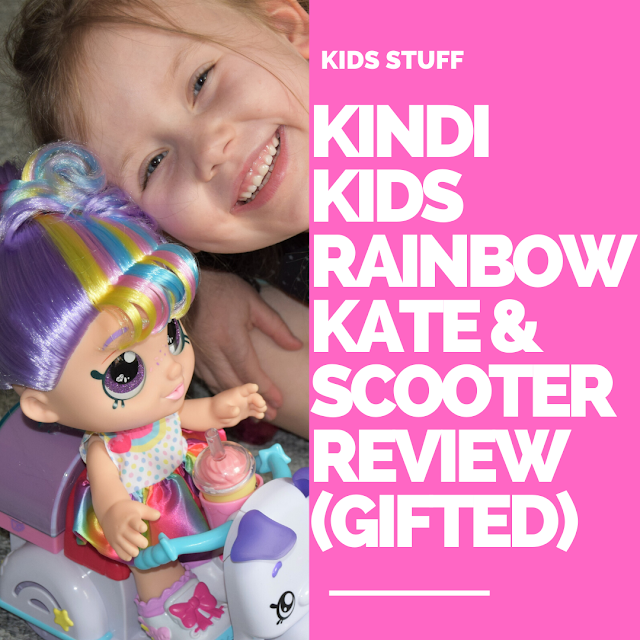 KINDI KIDS RAINBOW KATE SCOOTER TOY REVIEW