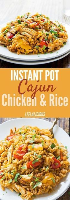 Instant Pot Cajun Chicken and Rice #dinner #maincourse #instantpot #cajun #chicken #rice