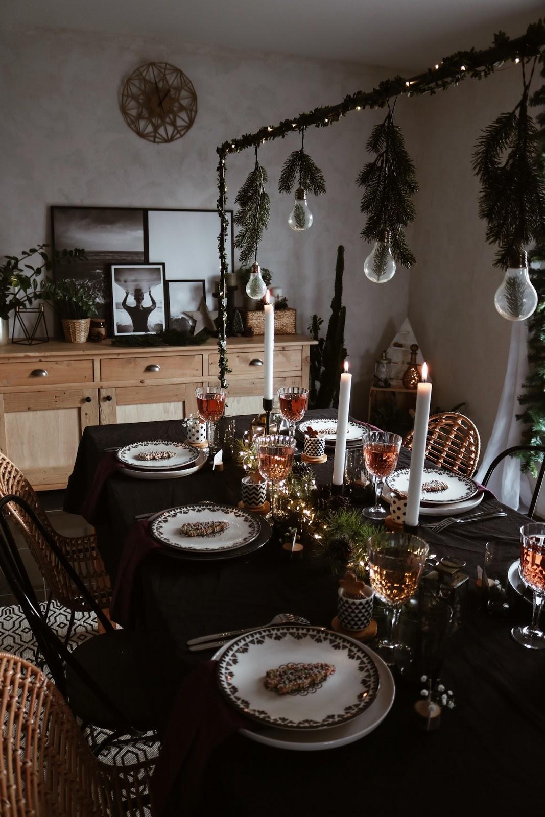 Petite decoration de table pour noel