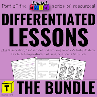 Cover of Differentiated Guided Math Lesson resource.