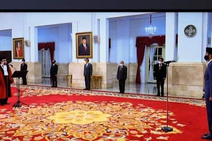 Presiden Jokowi Lantik Muhammad Syafruddin Jadi Ketua MA di Istana Negara