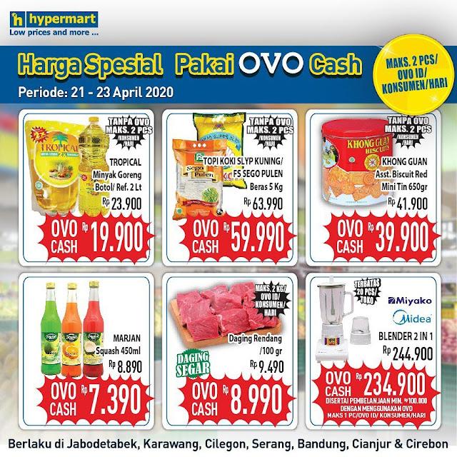 #Hypermart - #Promo Harga Spesial Pakai OVO Cash (s.d 23 April 2020)