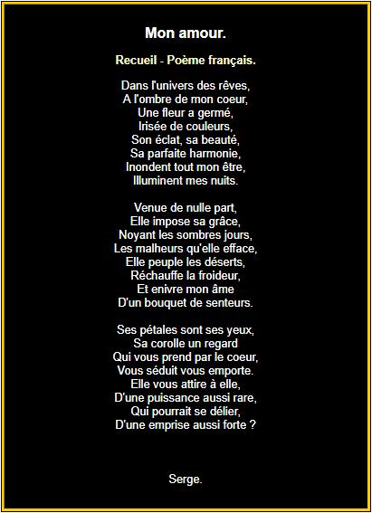 Poème pour mon amour