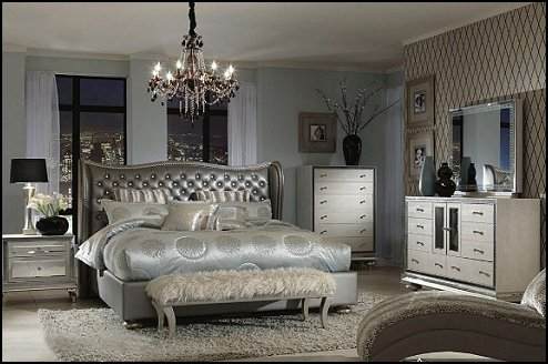 bedroom decor in glamor and glitz