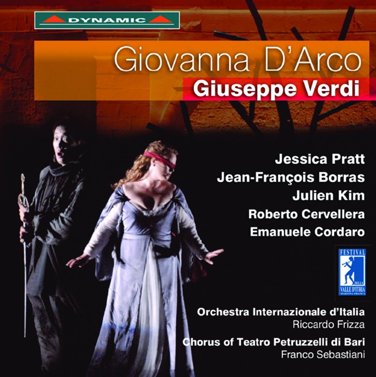 SINGER SPOTLIGHT: Soprano JESSICA PRATT, star of Festivale della Valle d'Itria's 2013 production of Giuseppe Verdi's GIOVANNA D'ARCO, released on CD and DVD by Dynamic [Cover art © by Dynamic]