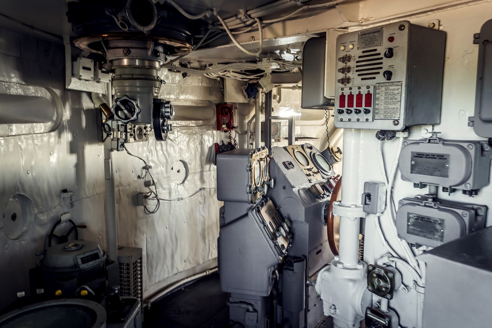 Inside Battleship Missouri in Pearl Harbour, Hawaii