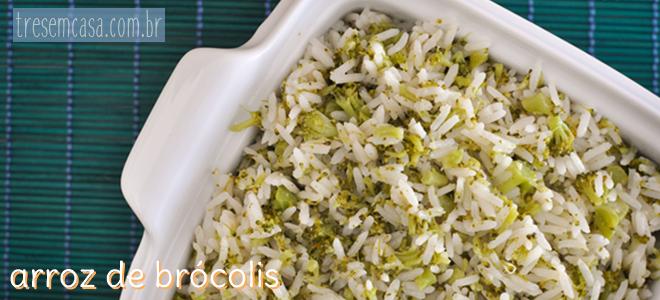 receita arroz brócolis