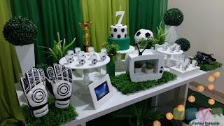 Decoração festa infantil Futebol Porto Alegre