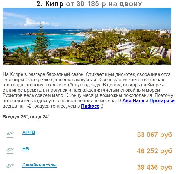 Кипр от 30 185 р на двоих
