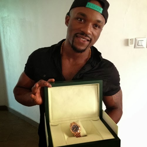 75226af3d6d0f AWAY 9JA Blog  (PICS) Iyanya Birthday gets  25k Rolex watch from his ...