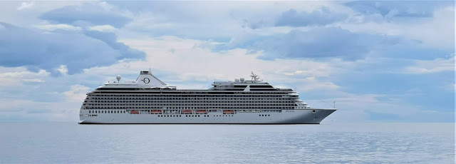 Oceania Riviera Cruise Ship On The Sea
