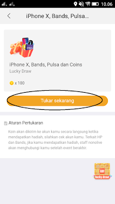 menukarkan coins aplikasi nonolive android