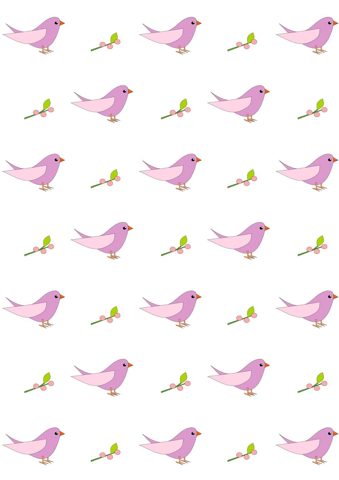 Free Digital Nursery Bird Scrapbooking Paper