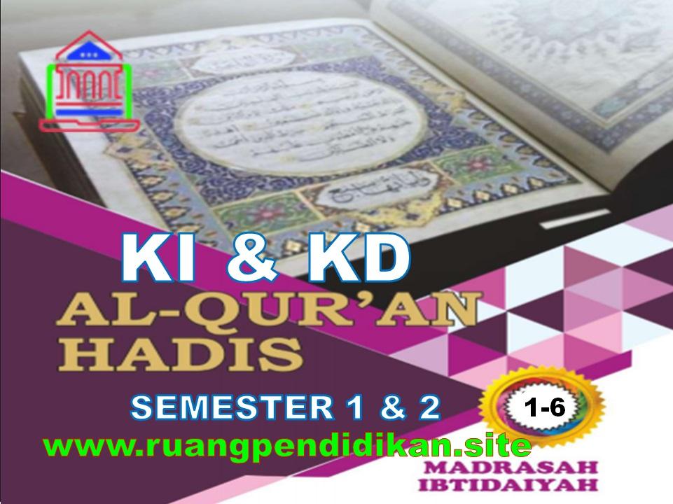 KI KD Al-Qur'an Hadis Kelas 1 2 3 4 5 6 MI
