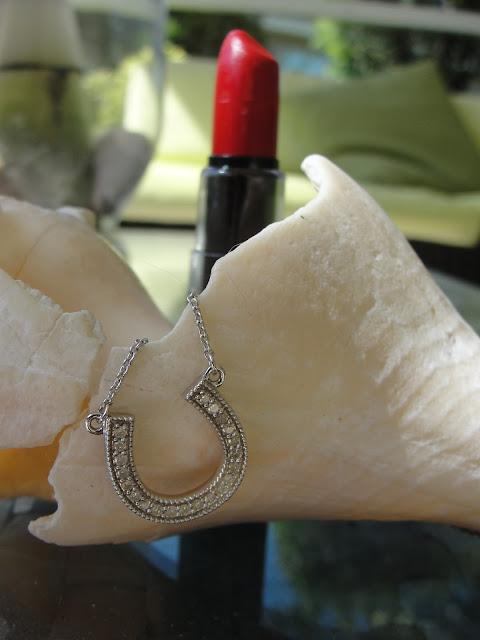 diamond horseshoe necklace by glitz design