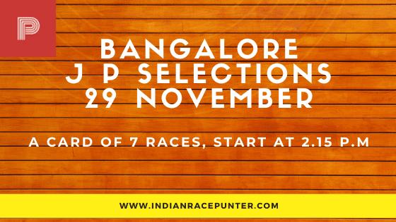 Bangalore Jackpot Selections 29 November