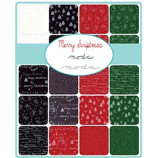 Moda Merry Scriptmas Fabric by Moda Fabrics