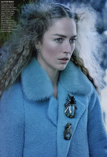 Max Mara coat, Vogue September 2015