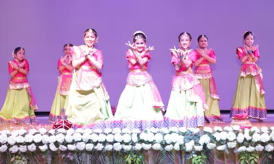 Satyans performing during the Teacher's Day celebration