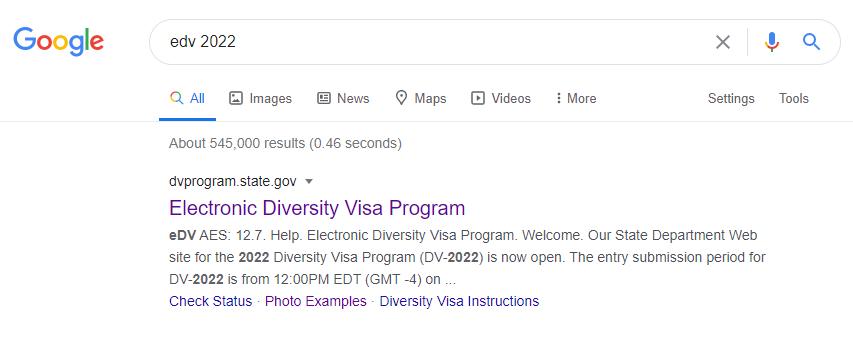 edv lottery visa google search