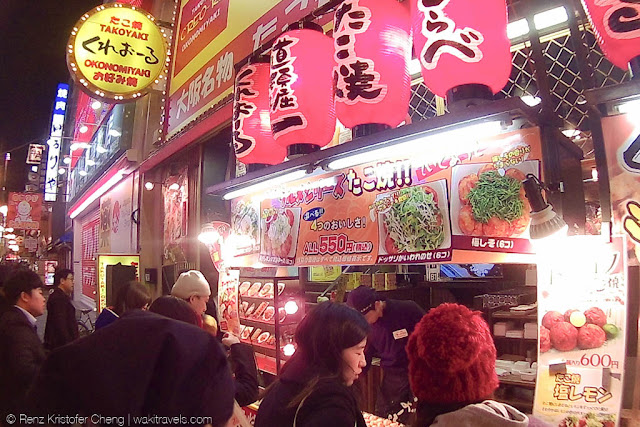 Takoyaki Shop in Dotonbori, Japan