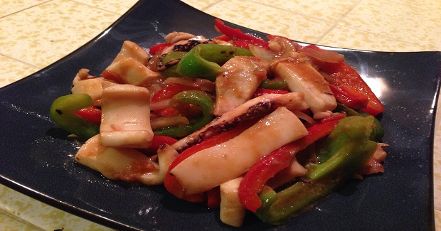Squid And Bell Peppers Stir-Fry Recipe