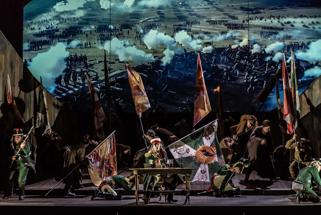 Prokofiev: War and Peace - Simon Bailey as Kutuzov - Welsh National Opera (Photo Clive Barda)