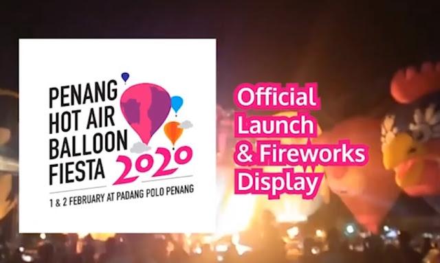 penang hot air balloon fiesta official launch fireworks