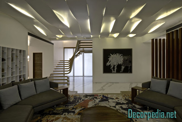 pop design, pop false ceiling design ideas for living room and hall 2019, plaster of paris ceiling with led lights