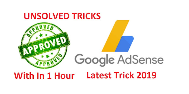 HOW TO MAKE GOOGLE ADSENSE QUICK APPROVAL 2019 Cover Photo
