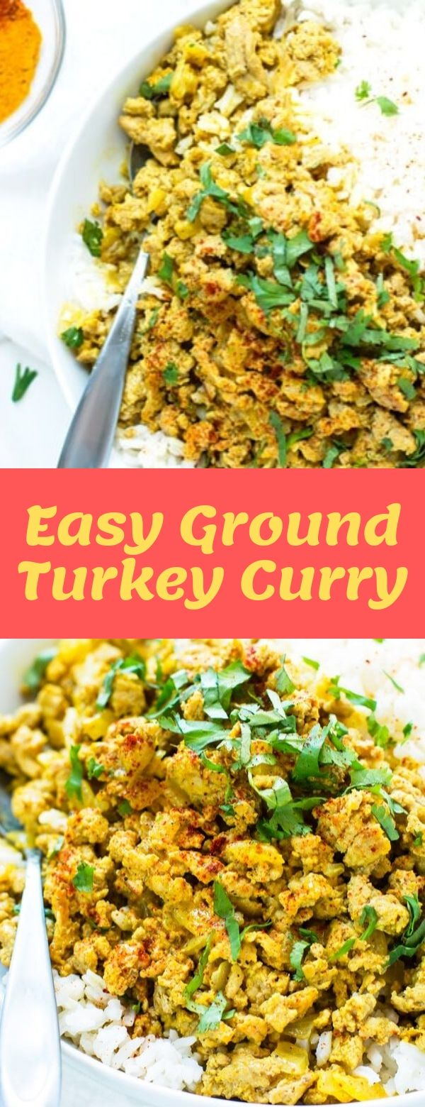 Easy Ground Turkey Curry #paleo #glutenfree #lowsugar