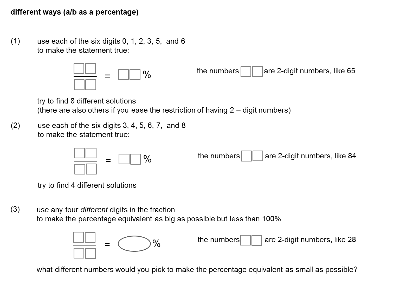Workbooks high school fractions worksheets : Resourceaholic: Number