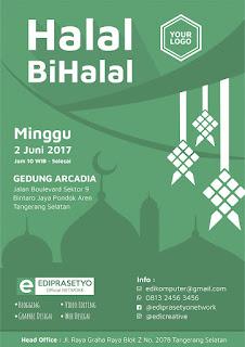 Download Desain Poster Halal Bi halal 2017