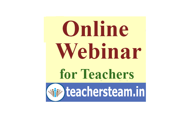 free webinar - Online webinar to Head Masters and teachers by SCERT