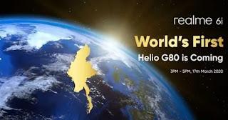 Tanggal peluncuran Realme 6i 17 Maret dan 18W dukungan pengisian cepat dikonfirmasi