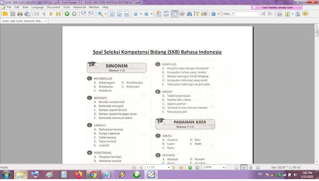 Contoh soal tes P3K/PPPK guru bahasa Indonesia dan kunci jawaban