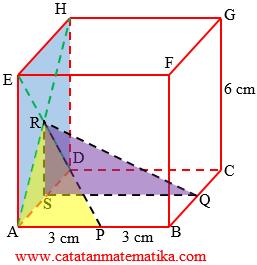 Jarak Titik P ke Titik R dan Jarak Titik Q ke Titik R