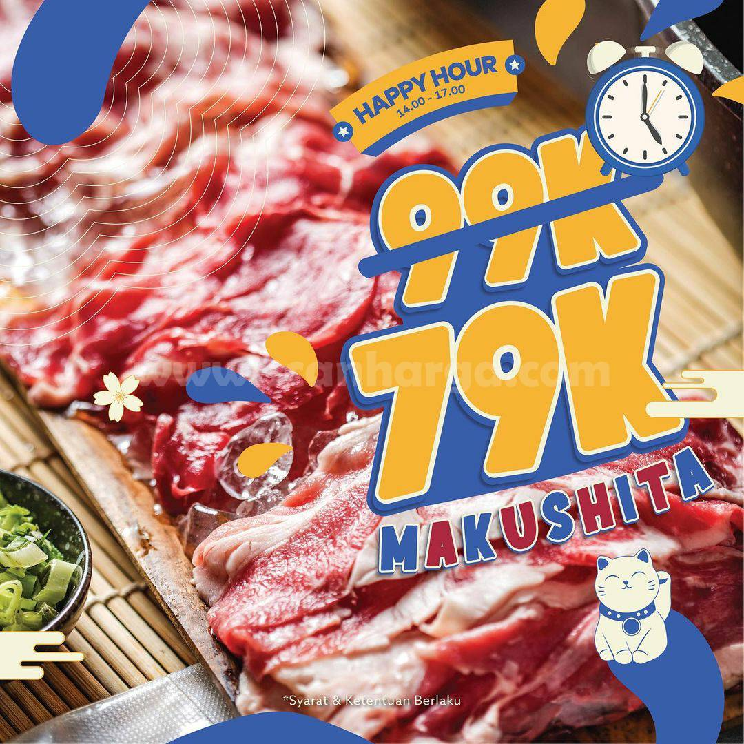 Promo Kitamura Shabu Happy Hour – Beli Menu Makushita hanya Rp 79.000